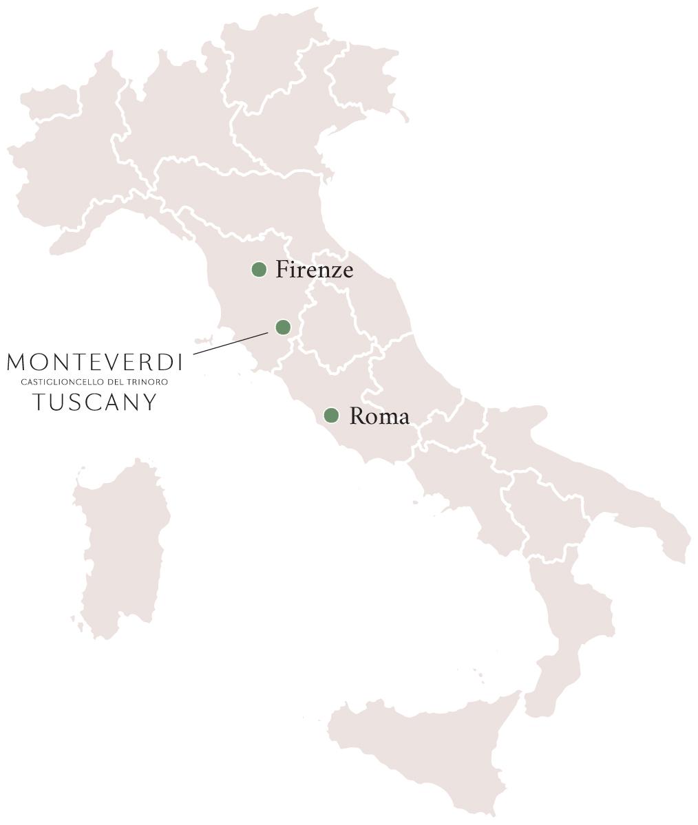 Tuscany Map Of Italy.Castiglioncello Del Trinoro Location Directions Monteverdi Tuscany