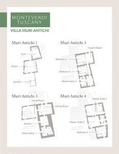 Click here to view the floor plan for Villa Muri Antichi