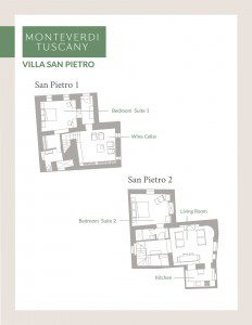 Click here to view the floor plan for Villa San Pietro